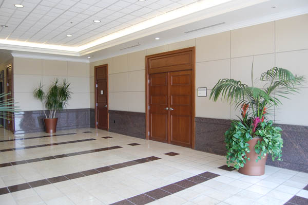 The left side of the lobby for the Southwest Suites Building